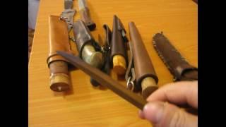 обзор моих охотничих ножей .review of my hunting knives