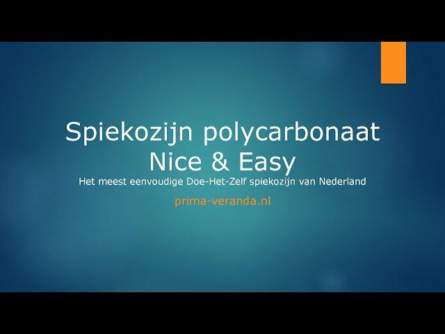 Opmeetinstructie Spiekozijn polycarbonaat Nice & Easy
