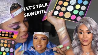 MORPHE X SAWEETIE COLLECTION SWATCHES & REAL TALK...