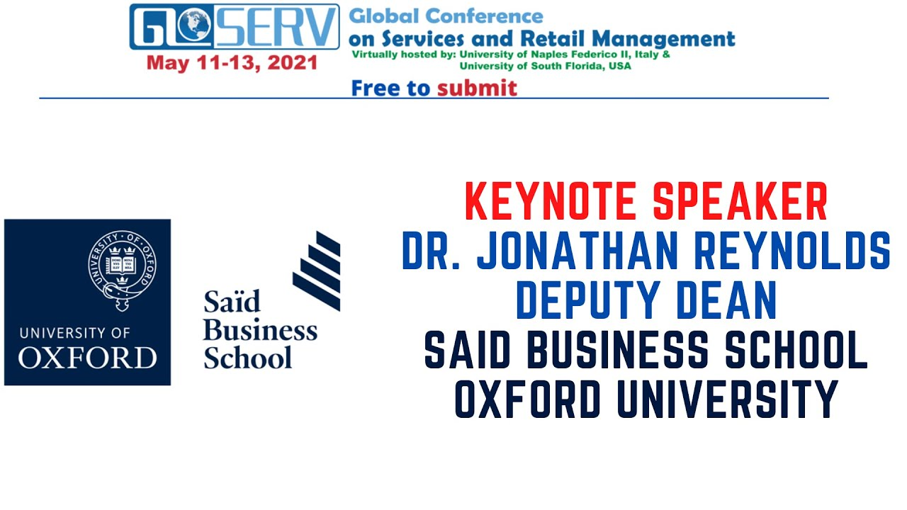 Prof Reynolds of Oxford University will deliver keynote at GLOSERV Conference