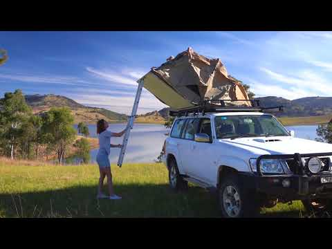 Adventure Kings Roof Top Tent Set Up Youtube