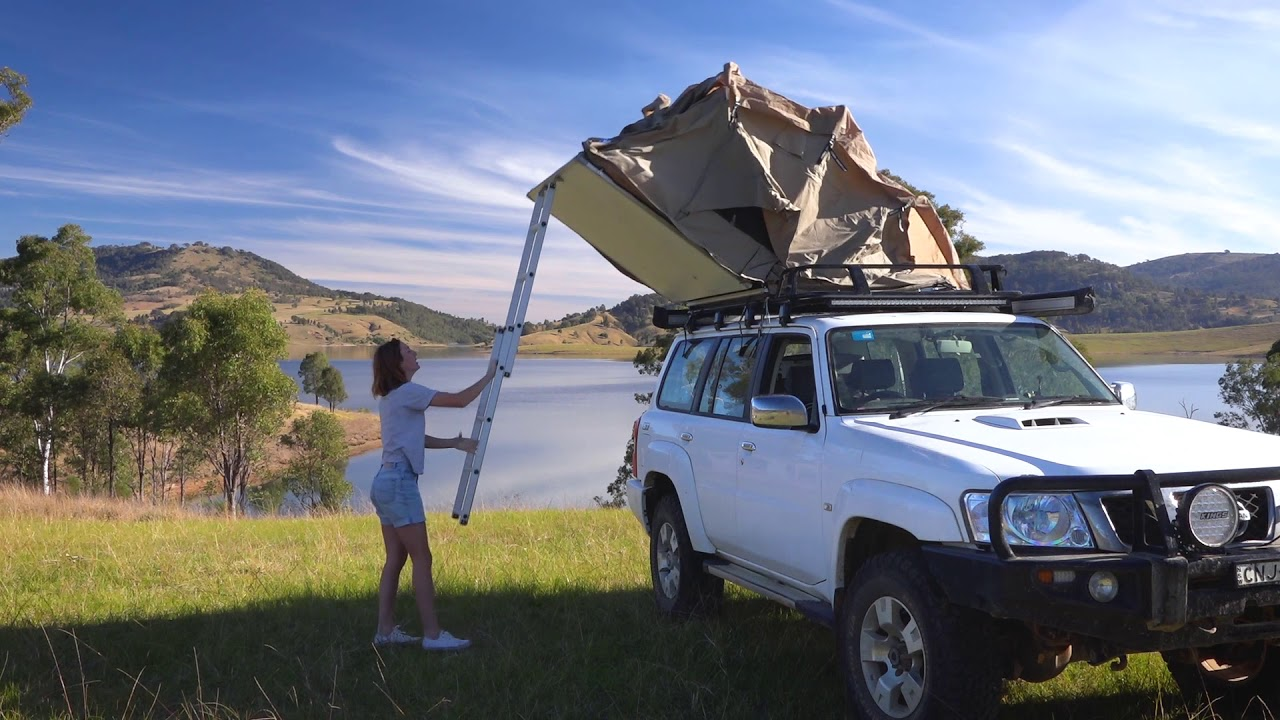 Adventure Kings Roof Top Tent Set Up - YouTube