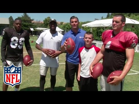 Amari Cooper, Michael Crabtree & Carr Brothers Face Off in Passing Competition | NFL