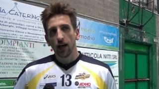 27-12-2015: #A2MVolley - Lorenzo Bonetti dopo la vittoria di Castellana su Vibo