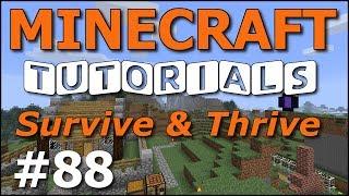 Minecraft Tutorials - E88 Map Wall (Survive and Thrive Season 7)