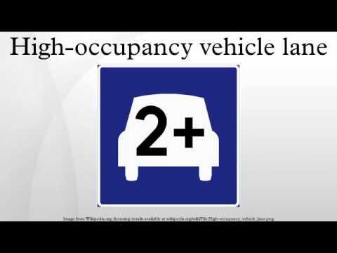 High-occupancy vehicle lane