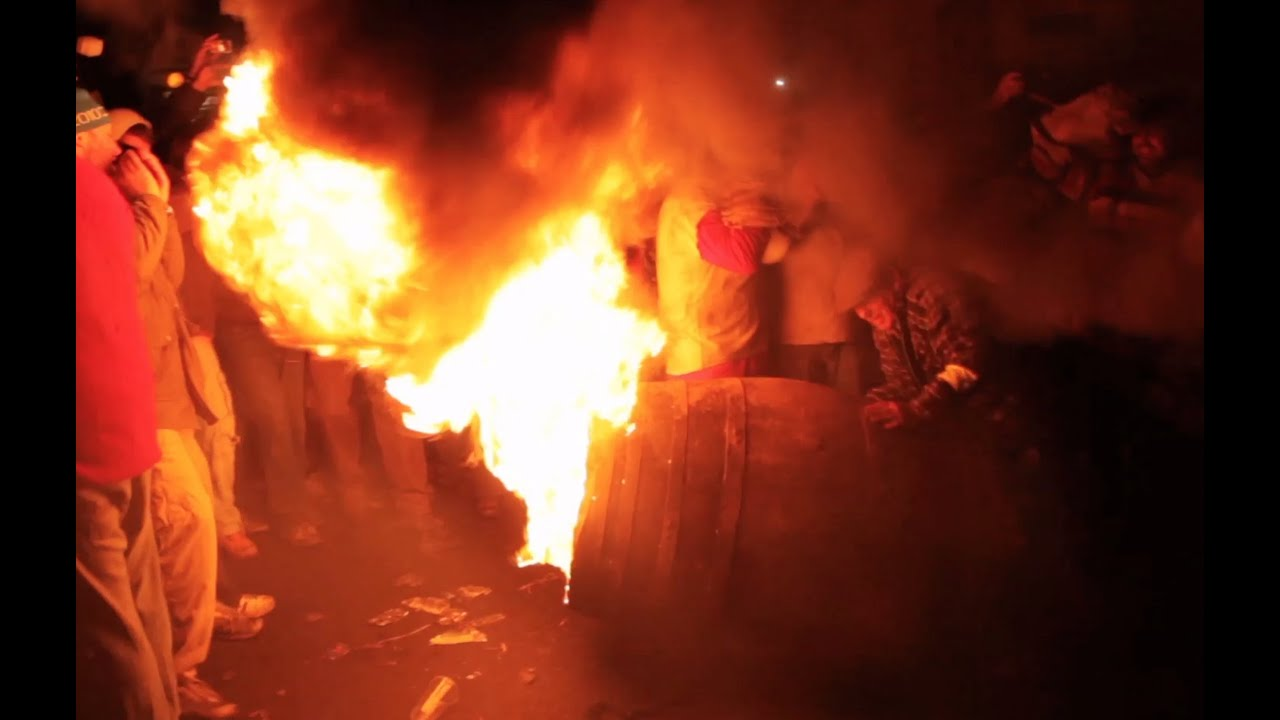 Flaming Tar Barrels of Ottery St Mary - The Telegraph