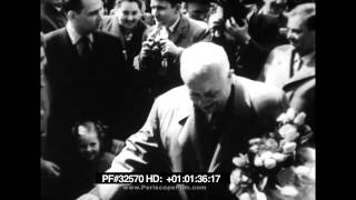 Khruschev File Footage - Diplomatic Career, Nehru, Anthony Eden, Moscow 32570 HD