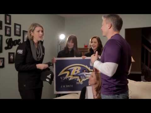 Surprising a Ravens Fan l NFL Extra Points Credit Card