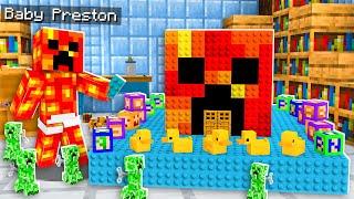Never Break into Baby Preston's Impossible House! - Minecraft