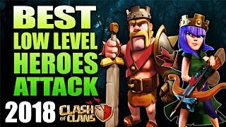 Best Low Heroes Attack | Best Th9 Attack | Best Queen Walk | New Th9 Attack 2018 COC