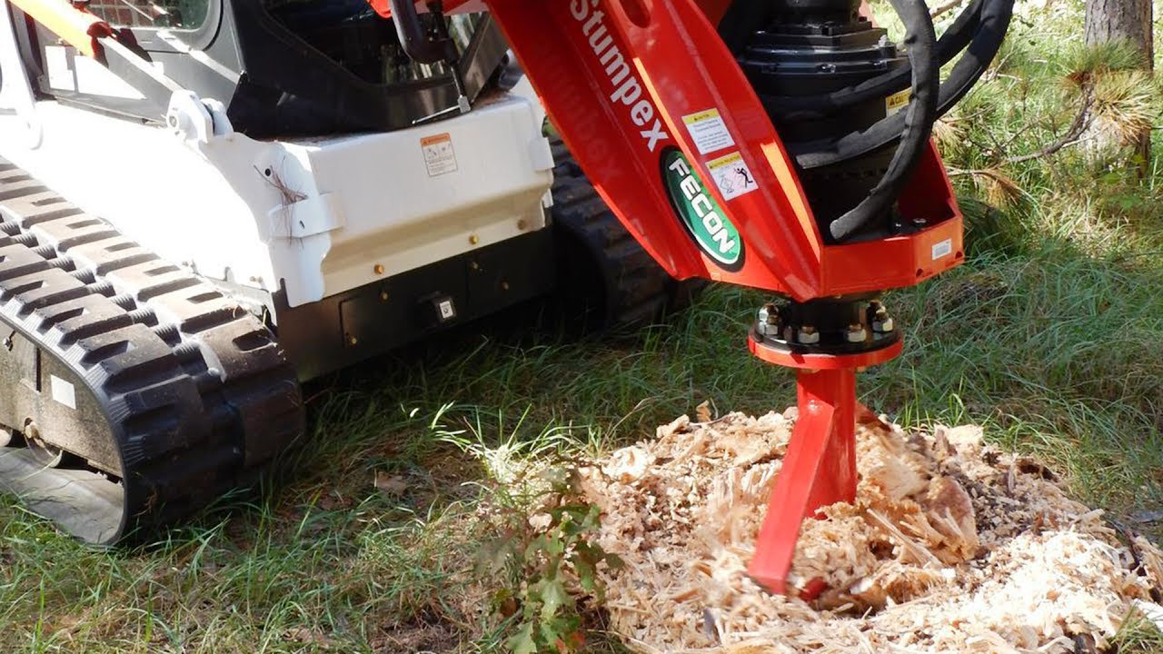 Stumpex Stump Grinder For Skid Steer Rent It Today At Garden State Bobcat Nj Ny De Youtube