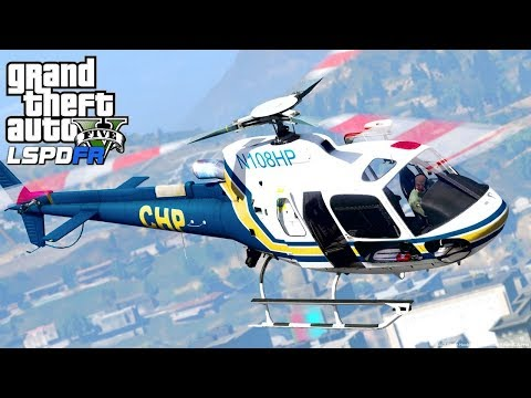 GTA 5 - LSPDFR #193 - Angry CHP Pilot Jumps From His Helicopter!
