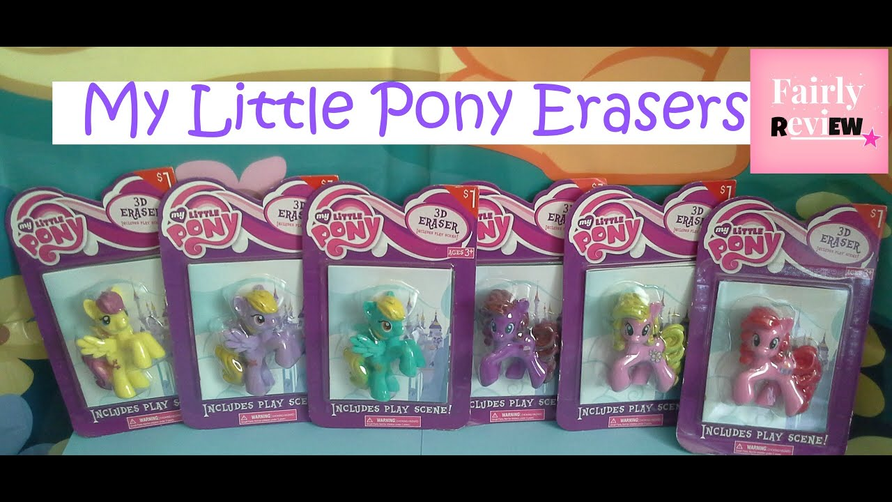 My Little Pony Toy Food : My little pony target erasers youtube