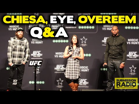 UFC Fight Night Adelaide Q&A with Alistair Overeem, Jessica Eye, Michael Chiesa