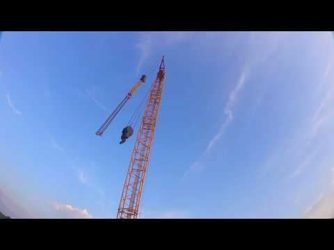 DIVING CRANE FOR THE FIRST TIME