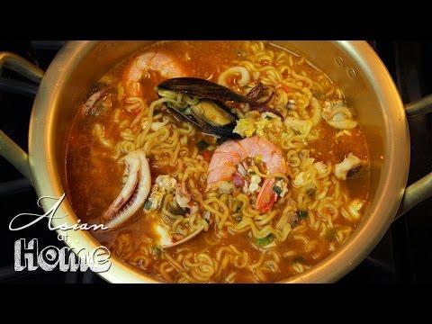 Asian at Home | Korean Seafood Ramen