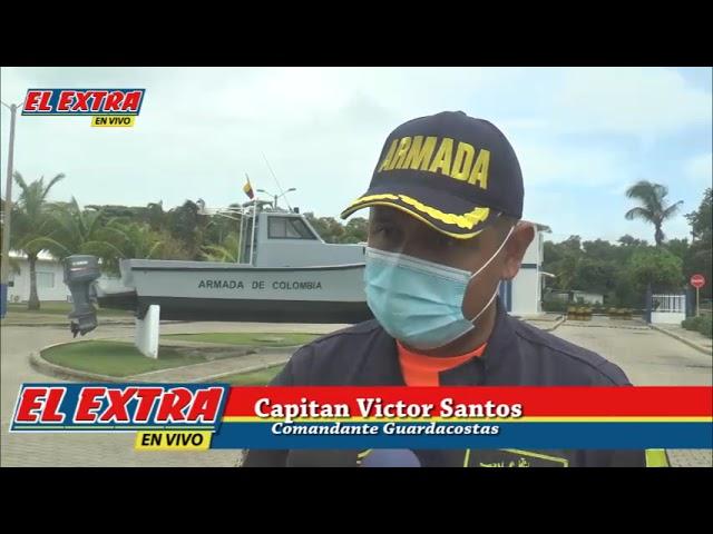 Declaraciones comandante Guardacostas Tema rescate de 5 pescadores al sur de la isla