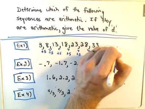 Quick Intro to Arithmetic Sequences