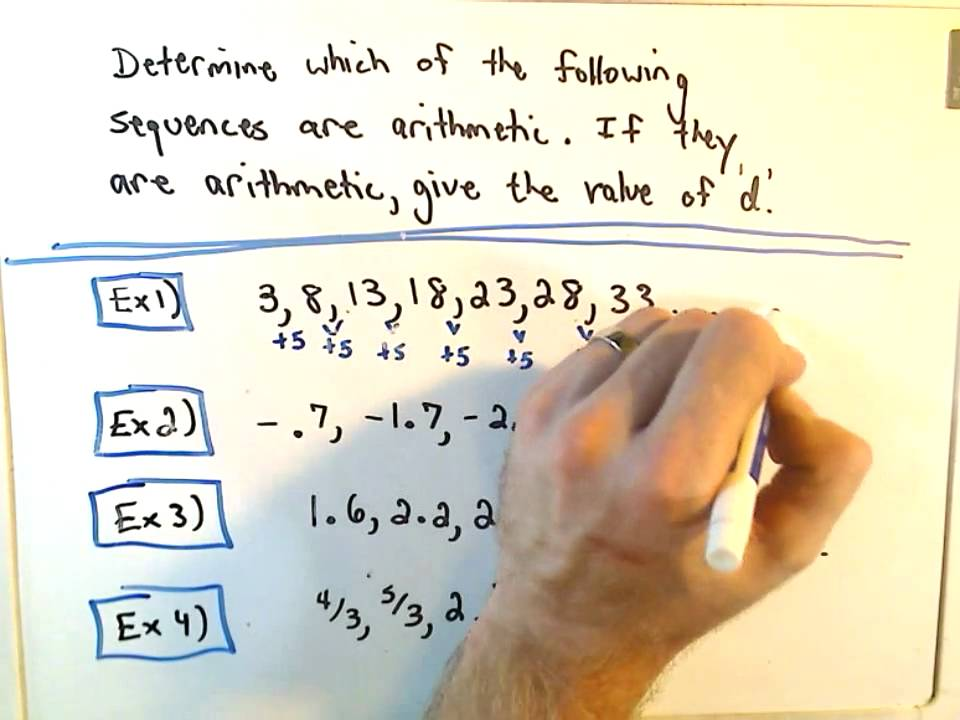 Quick Intro To Arithmetic Sequences  Youtube