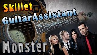 Skillet - Monster  (Урок под гитару)