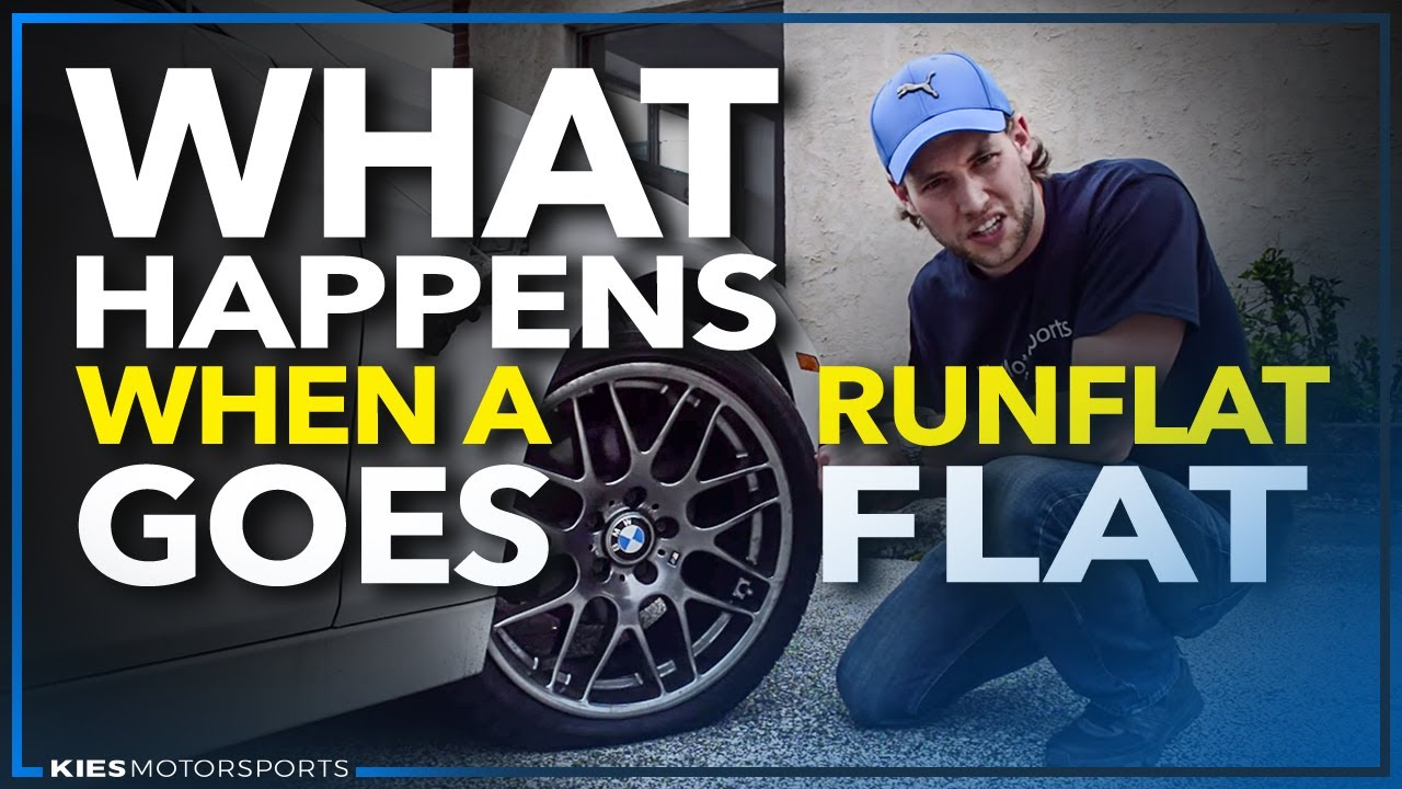 What Happens When A RunFlat Goes Flat F BMW And A Big Nail - Bmw 328i run flat tires