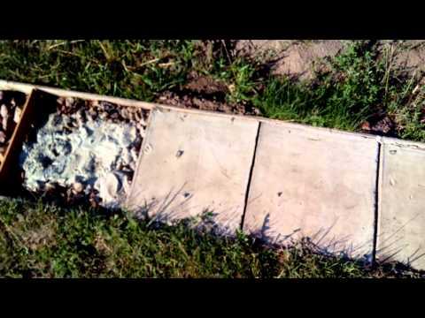 видео: Как сделать дорожку из бетона. Садовые дорожки, бетонные дорожки, своими руками