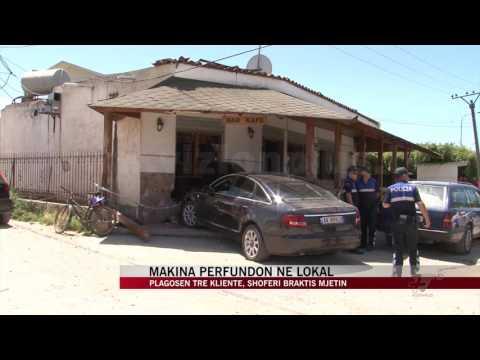 Makina përfundon në lokal, plagosen tre klientë - News, Lajme - Vizion Plus