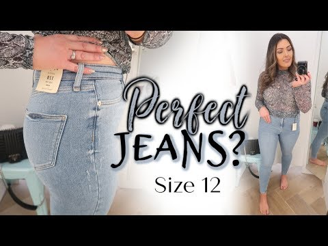 TRYING SIZE 12 AT 8 DIFFERENT STORES👖! PERFECT HIGH STREET JEANS? 🤔