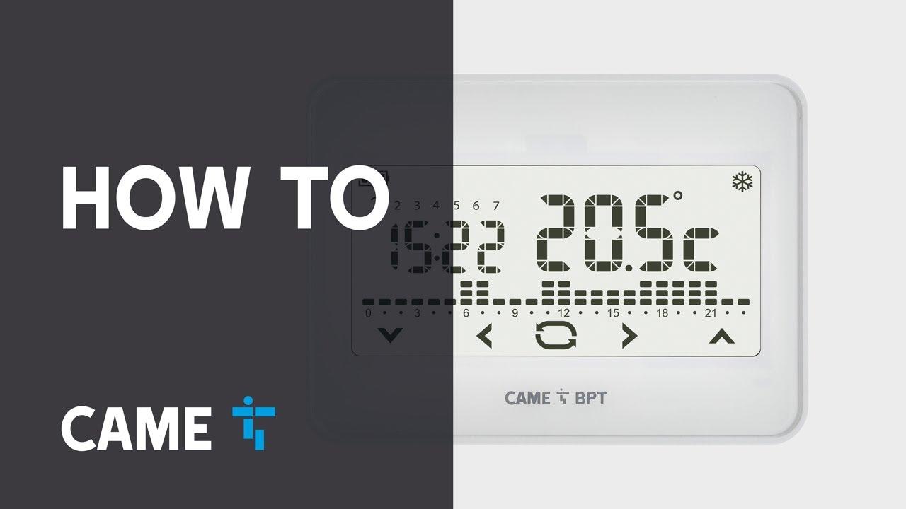 Came Bpt Th550 Wifi Come Configurare Il Cronotermostato
