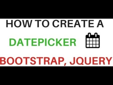 Jquery Datepicker (date, Month) Calendar With Bootstrap 3.3.7