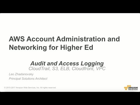 AWS Audit and Access Logging for Education - YouTube