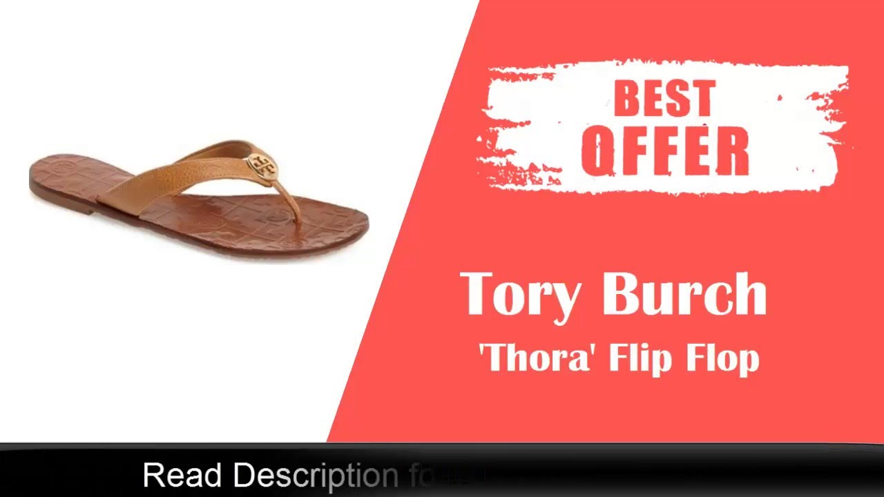 d3efd79cf Tory Burch  Thora  Flip Flop Review   Online Sale - YouTube