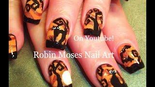 Nail Art Tutorial   Diy Easy Halloween Nails   Cute Black Cats!!!