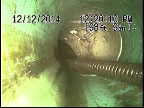 This Is What A Sewer Line Looks Like With A Cable Stuck In It Youtube