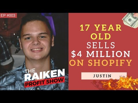 How A 17-Year-Old Teenager Sold $4 Million on Shopify In 18 Months