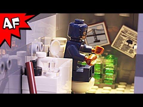 Lego Captain America's Toilet Troubles - Superhero's Bad Day