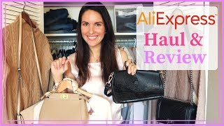 ALIEXPRESS HAUL HANDBAGS // DESIGNER DUPES & CASHMERE CLOTHING plus review 2018