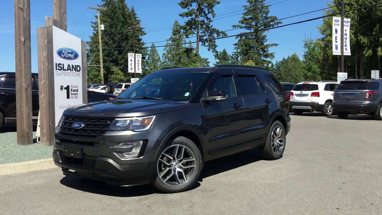 2017 ford explorer sport w twin pannel moonroof review island ford youtube. Black Bedroom Furniture Sets. Home Design Ideas