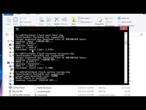 How To Factory Restore Your Moto X (2013 Only) Using Fastboot! - YT