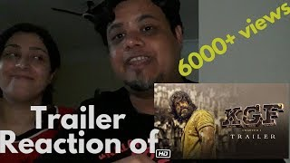 FOREIGNER REACT TO KGF TRAILER|NORTH INDIAN REACT TO SOUTH INDIAN TRAILER| KGF (KOLAR GOLD FIELD)