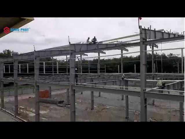 Lắp dựng hạng mục nhà để xe khung thép