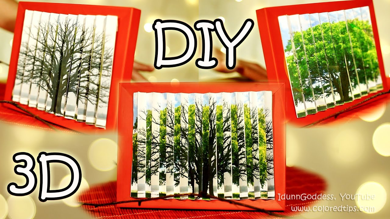 DIY 2 pictures in 1 How To Make 3D Optical Illusion