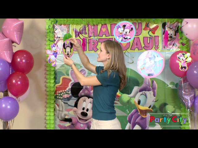Minnie Mouse Birthday Party Ideas From Party City Youtube