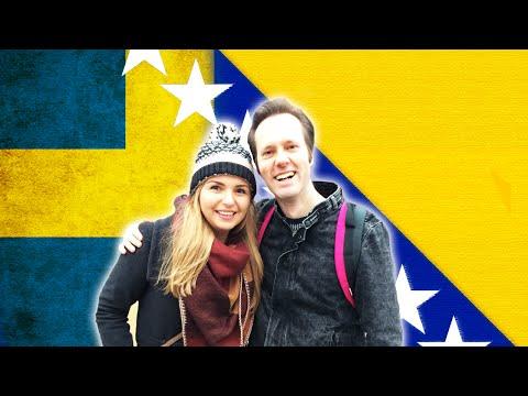 Bosnisk tjej försöker prata svenska - Svensk försöker att prata bosniska