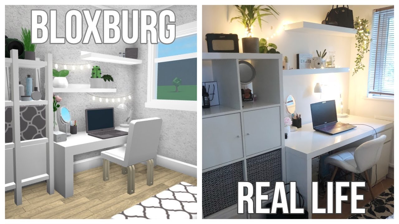 Bloxburg: Building My Real Life Bedroom + I Speak Lol
