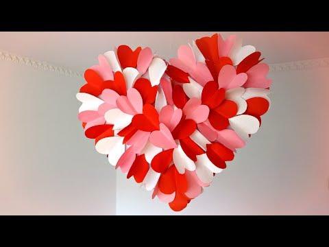 DIY Hanging heart for Valentine's Day Room Decor | Maison Zizou