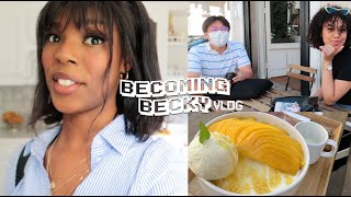 (vlog) we went to a korean cafe in paris | becoming becky ep.2