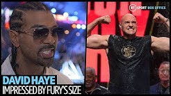 """""""Fury looks like a new man!"""" David Haye changes his mind on Wilder v Fury 2 after weigh-ins!"""