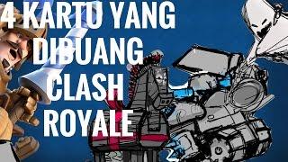 WOW!! 4 KARTU CLASH ROYALE YANG BATAL RILIS/DIBUANG!!!(CLASH ROYALE INDONESIA)
